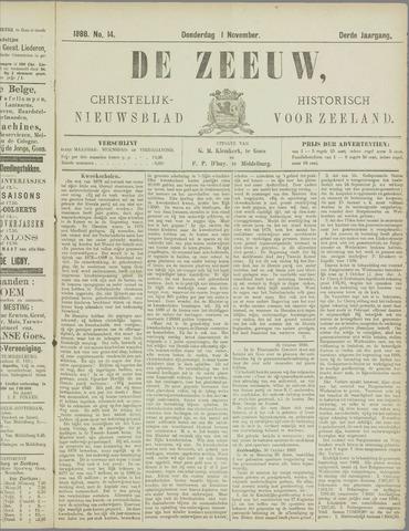 De Zeeuw. Christelijk-historisch nieuwsblad voor Zeeland 1888-11-01