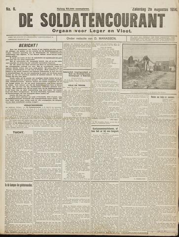 De Soldatencourant. Orgaan voor Leger en Vloot 1914-08-29