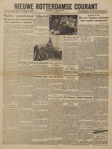 Watersnood documentatie 1953 - kranten 1953-03-09