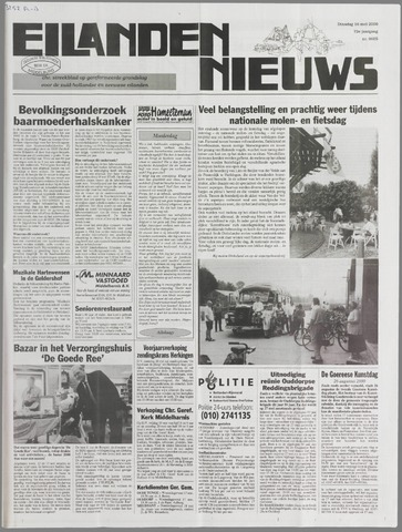 Eilanden-nieuws. Christelijk streekblad op gereformeerde grondslag 2000-05-16