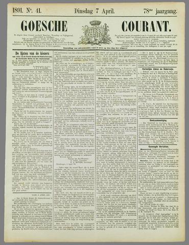 Goessche Courant 1891-04-07