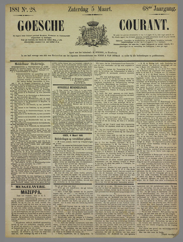 Goessche Courant 1881-03-05