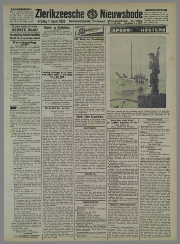 Zierikzeesche Nieuwsbode 1932-04-01