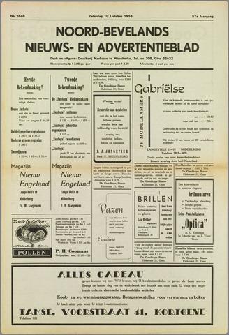 Noord-Bevelands Nieuws- en advertentieblad 1953-10-10