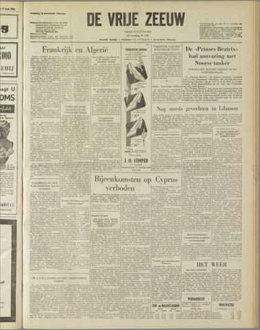 de Vrije Zeeuw 1958-06-13