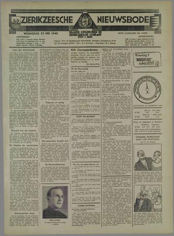 Zierikzeesche Nieuwsbode 1940-05-22