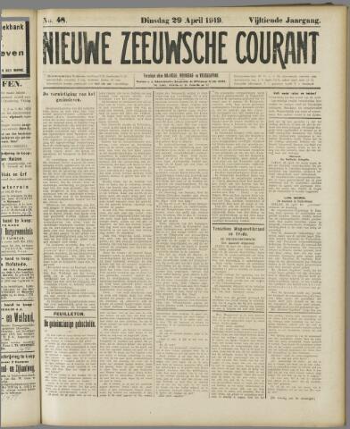 Nieuwe Zeeuwsche Courant 1919-04-29