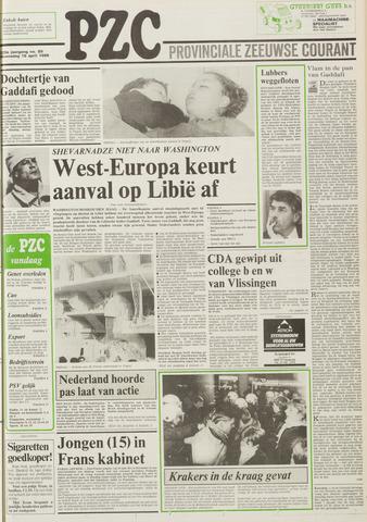 Provinciale Zeeuwse Courant 1986-04-16