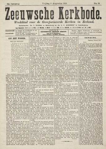 Zeeuwsche kerkbode, weekblad gewijd aan de belangen der gereformeerde kerken/ Zeeuwsch kerkblad 1918-08-09