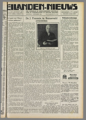 Eilanden-nieuws. Christelijk streekblad op gereformeerde grondslag 1949-09-07