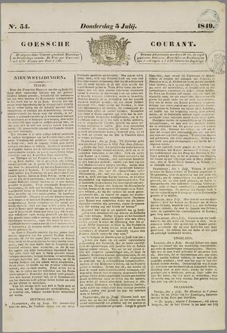 Goessche Courant 1849-07-05