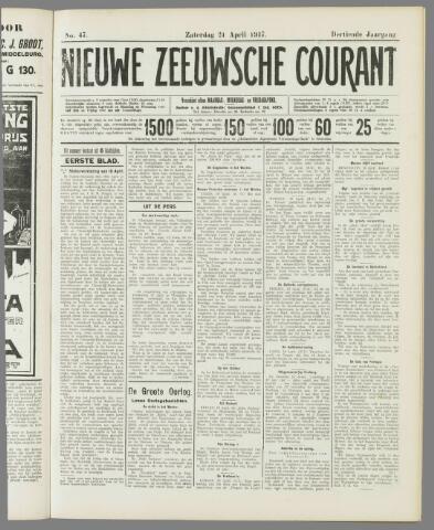 Nieuwe Zeeuwsche Courant 1917-04-21