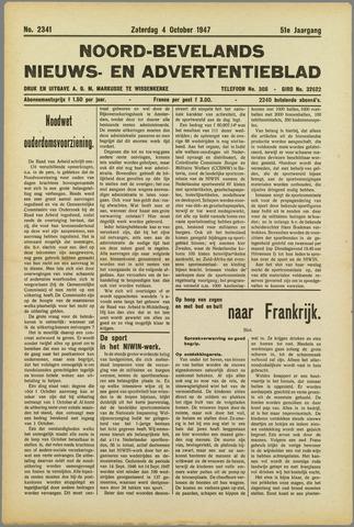 Noord-Bevelands Nieuws- en advertentieblad 1947-10-04