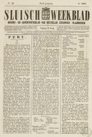 Sluisch Weekblad. Nieuws- en advertentieblad voor Westelijk Zeeuwsch-Vlaanderen 1865-06-02