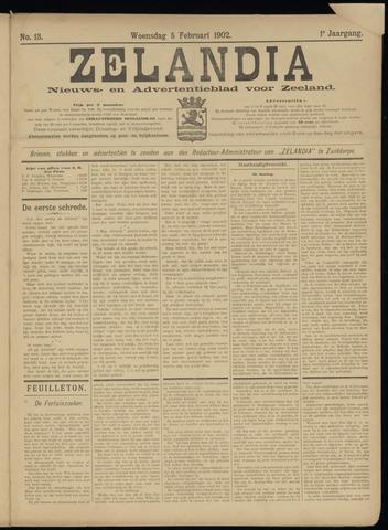 Zelandia. Nieuws-en advertentieblad voor Zeeland | edities: Het Land van Hulst en De Vier Ambachten 1902-02-05
