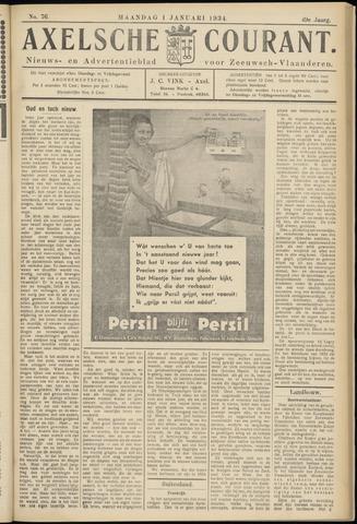 Axelsche Courant 1934