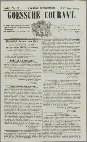 Goessche Courant 1864-02-22