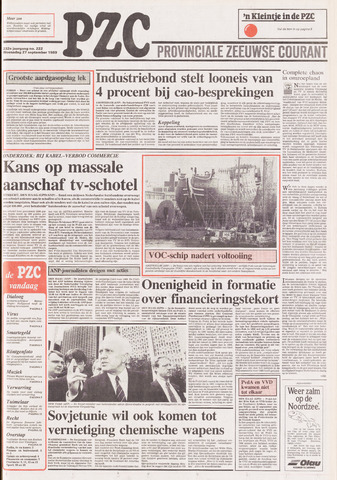 Provinciale Zeeuwse Courant 1989-09-27