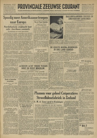 Provinciale Zeeuwse Courant 1950-09-11