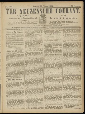 Ter Neuzensche Courant. Algemeen Nieuws- en Advertentieblad voor Zeeuwsch-Vlaanderen / Neuzensche Courant ... (idem) / (Algemeen) nieuws en advertentieblad voor Zeeuwsch-Vlaanderen 1902-02-22