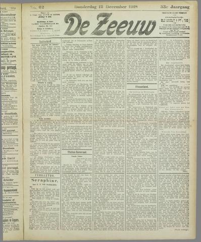 De Zeeuw. Christelijk-historisch nieuwsblad voor Zeeland 1918-12-12