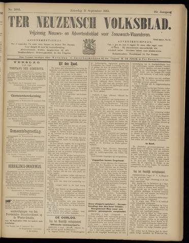Ter Neuzensch Volksblad. Vrijzinnig nieuws- en advertentieblad voor Zeeuwsch- Vlaanderen / Zeeuwsch Nieuwsblad. Nieuws- en advertentieblad voor Zeeland 1915-09-11