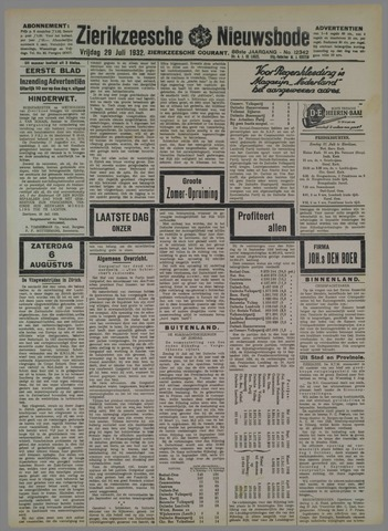 Zierikzeesche Nieuwsbode 1932-07-29