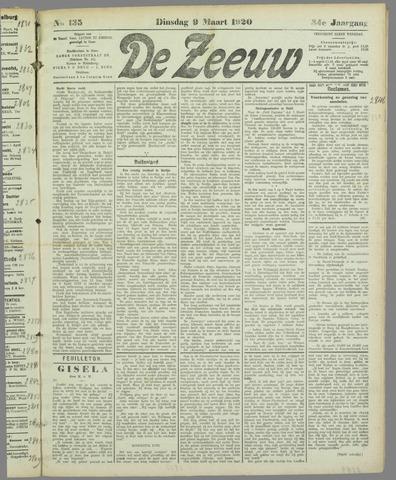 De Zeeuw. Christelijk-historisch nieuwsblad voor Zeeland 1920-03-09