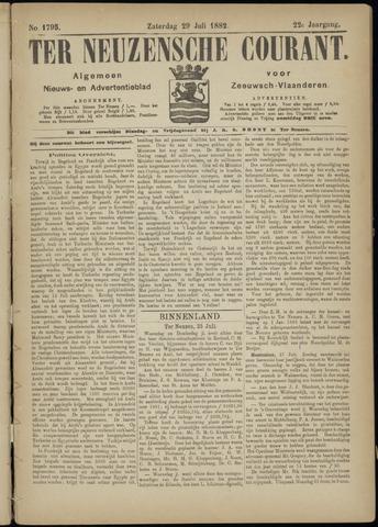 Ter Neuzensche Courant. Algemeen Nieuws- en Advertentieblad voor Zeeuwsch-Vlaanderen / Neuzensche Courant ... (idem) / (Algemeen) nieuws en advertentieblad voor Zeeuwsch-Vlaanderen 1882-07-29
