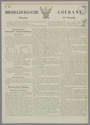 Middelburgsche Courant 1854-02-28
