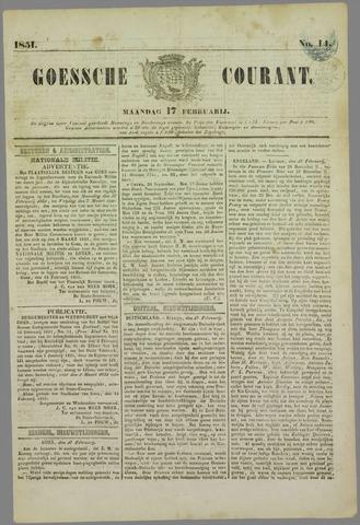 Goessche Courant 1851-02-17