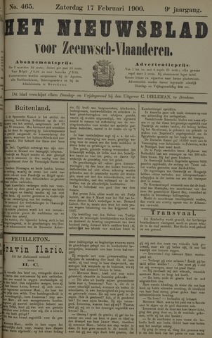 Nieuwsblad voor Zeeuwsch-Vlaanderen 1900-02-17