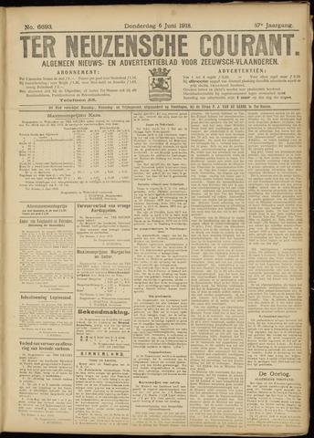 Ter Neuzensche Courant. Algemeen Nieuws- en Advertentieblad voor Zeeuwsch-Vlaanderen / Neuzensche Courant ... (idem) / (Algemeen) nieuws en advertentieblad voor Zeeuwsch-Vlaanderen 1918-06-06