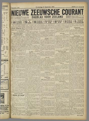 Nieuwe Zeeuwsche Courant 1922-09-21