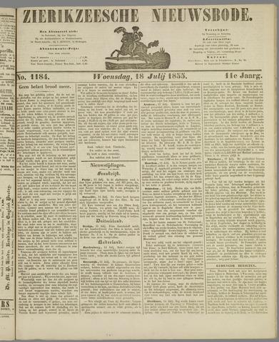 Zierikzeesche Nieuwsbode 1855-07-18