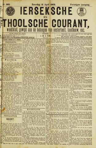 Ierseksche en Thoolsche Courant 1903-04-11