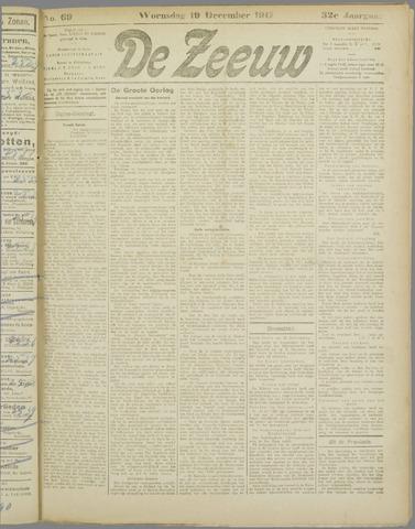 De Zeeuw. Christelijk-historisch nieuwsblad voor Zeeland 1917-12-19