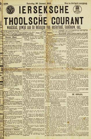 Ierseksche en Thoolsche Courant 1915-01-30