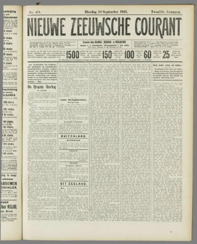 Nieuwe Zeeuwsche Courant 1916-09-19