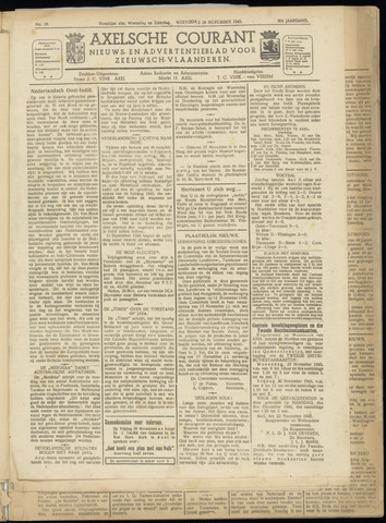 Axelsche Courant 1945-11-28