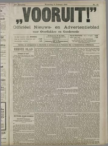 """""""Vooruit!""""Officieel Nieuws- en Advertentieblad voor Overflakkee en Goedereede 1916-02-09"""