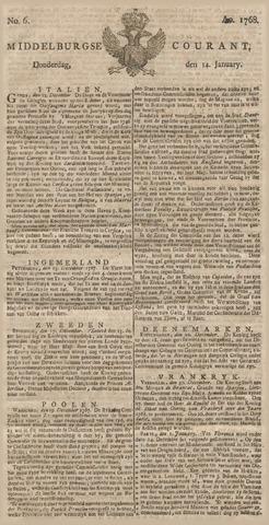 Middelburgsche Courant 1768-01-14