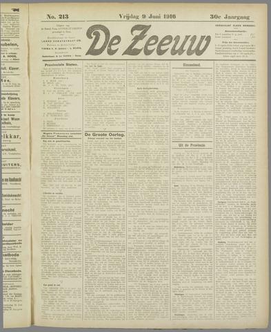 De Zeeuw. Christelijk-historisch nieuwsblad voor Zeeland 1916-06-09