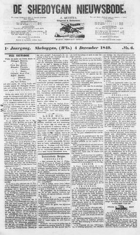 Sheboygan Nieuwsbode 1849-12-04