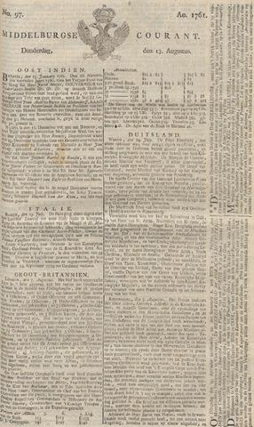 Middelburgsche Courant 1761-08-13