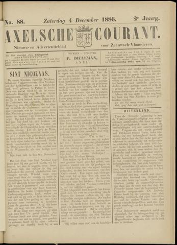 Axelsche Courant 1886-12-04