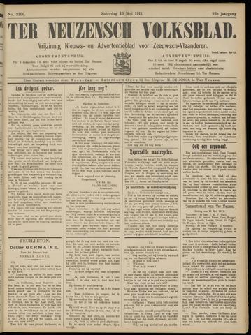 Ter Neuzensch Volksblad. Vrijzinnig nieuws- en advertentieblad voor Zeeuwsch- Vlaanderen / Zeeuwsch Nieuwsblad. Nieuws- en advertentieblad voor Zeeland 1911-05-13
