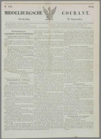 Middelburgsche Courant 1854-09-28