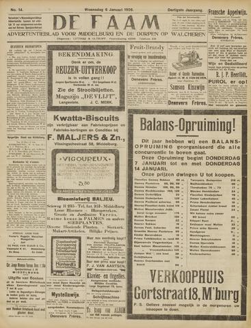 de Faam en de Faam/de Vlissinger 1926