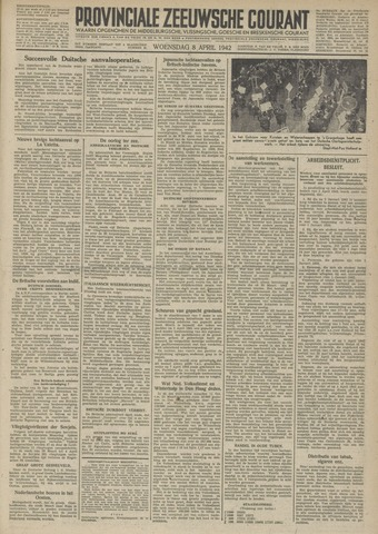Provinciale Zeeuwse Courant 1942-04-08